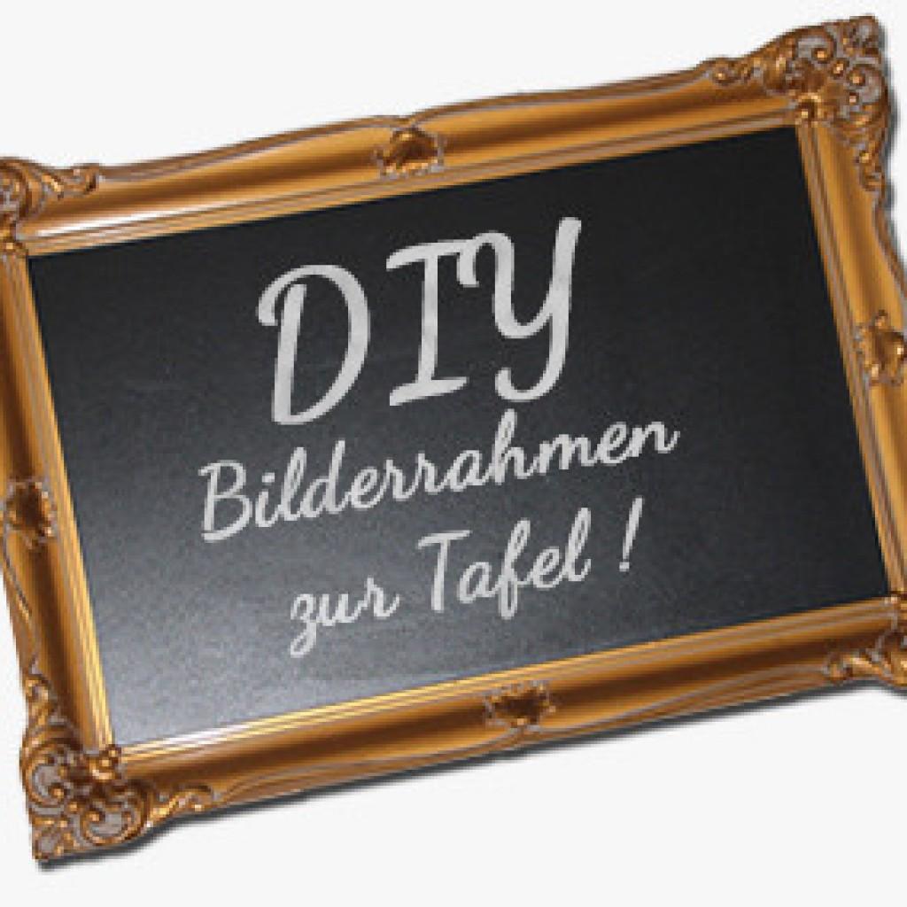 DIY - Alten Bilderrahmen zur Tafel umgestalten. - Flodders