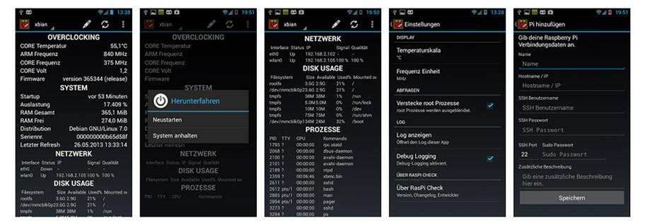 Raspberry pi Android RasPi Check