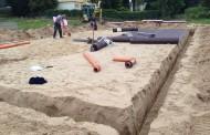 Bautagebuch Tag 4. Die Bodenplatte kommt
